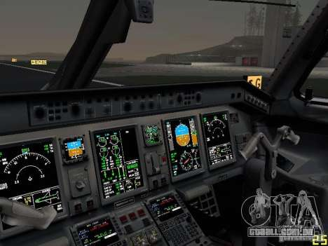 Embraer ERJ 190 USAirways para GTA San Andreas vista superior
