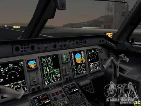 Embraer ERJ 190 USAirways para GTA San Andreas vista superior