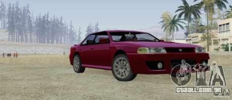 Sultan SRX para vista lateral GTA San Andreas