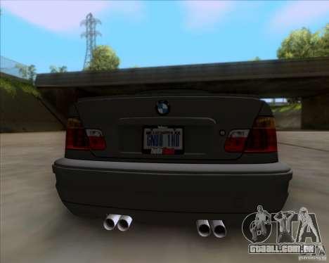 BMW 3-er E46 Dope para GTA San Andreas vista traseira