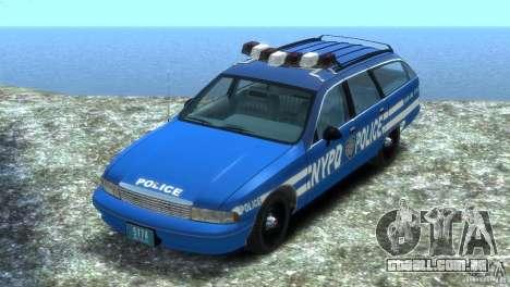 Chevrolet Caprice Police Station Wagon 1992 para GTA 4