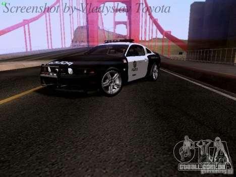 Ford Mustang GT 2011 Police Enforcement para GTA San Andreas traseira esquerda vista