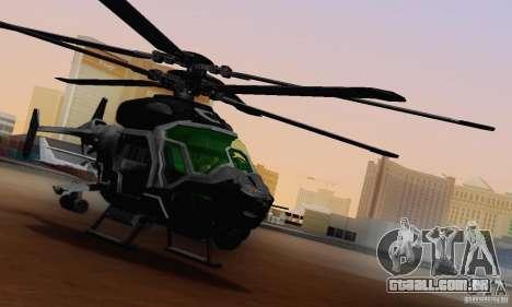 AH-2 Сrysis 50 C.E.L.L. helicóptero para GTA San Andreas vista interior