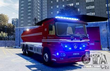 Mercedes-Benz Vanntankbil / Water Tanker para GTA 4 vista direita