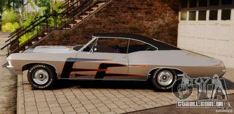 Chevrolet Impala 427 SS 1967 para GTA 4 esquerda vista