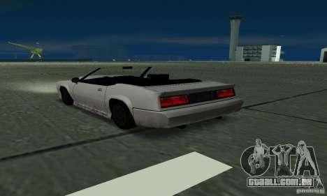 Buffalo Cabrio para GTA San Andreas esquerda vista