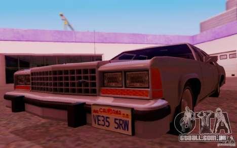 Ford Crown  Victoria LTD 1985 para GTA San Andreas vista interior