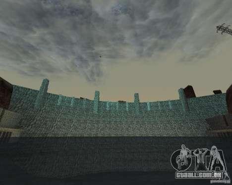 A nova estrutura da barragem para GTA San Andreas por diante tela