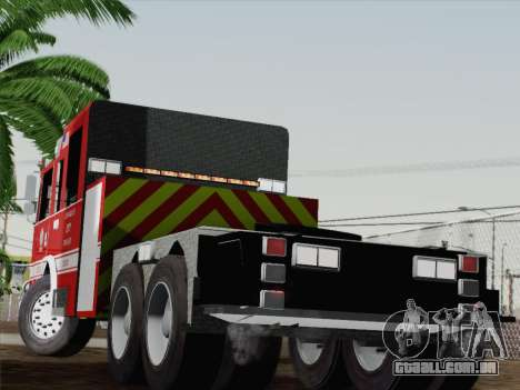Pierce Arrow XT LAFD Tiller Ladder Truck 10 para GTA San Andreas traseira esquerda vista