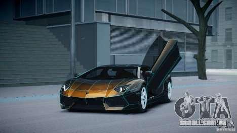 Lamborghini Aventador LP700-4 para GTA 4 vista interior
