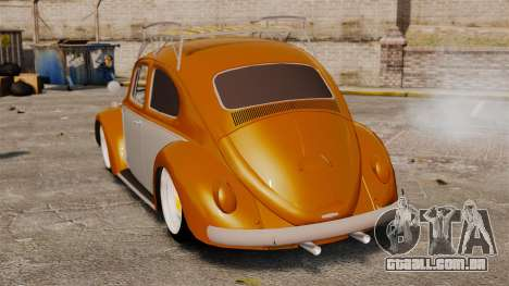 Volkswagen Fusca Edit para GTA 4 traseira esquerda vista