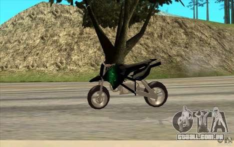Black Rockstar Moto Cross para GTA San Andreas traseira esquerda vista