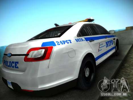 Ford Taurus NYPD 2011 para GTA San Andreas esquerda vista