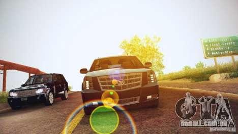 Cadillac Escalade ESV 2012 para GTA San Andreas vista interior