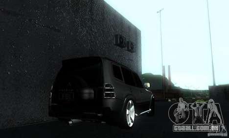 Mitsubishi Pajero FBI para GTA San Andreas esquerda vista