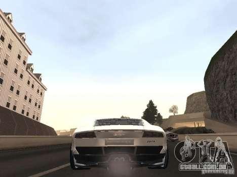 Lamborghini Miura LP670 para GTA San Andreas traseira esquerda vista