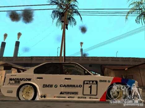 BMW E34 M5 - DTM para GTA San Andreas vista direita