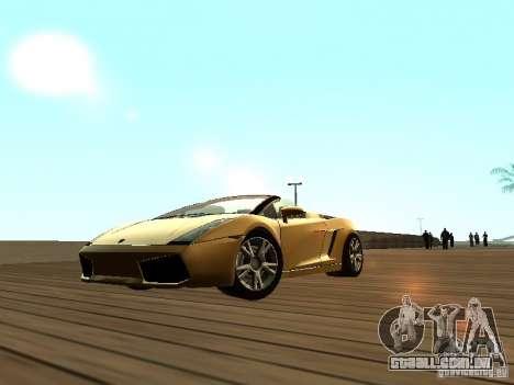 Lamborghini Gallardo para GTA San Andreas esquerda vista