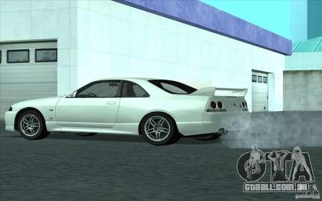Nissan Skyline GT-R R-33 para GTA San Andreas traseira esquerda vista
