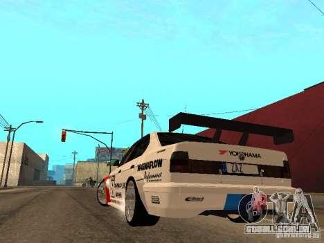 BMW E34 M5 - DTM para GTA San Andreas traseira esquerda vista
