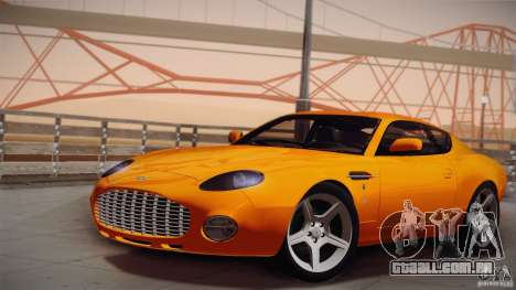 Aston Martin DB7 Zagato 2003 para vista lateral GTA San Andreas