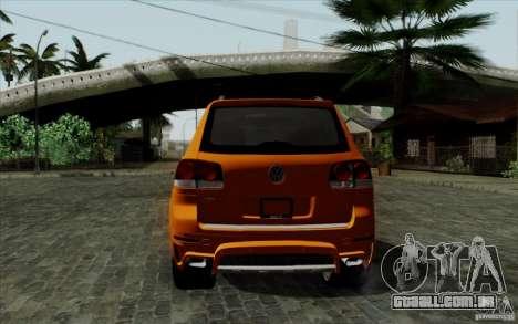 Volkswagen Touareg R50 Light para GTA San Andreas vista direita