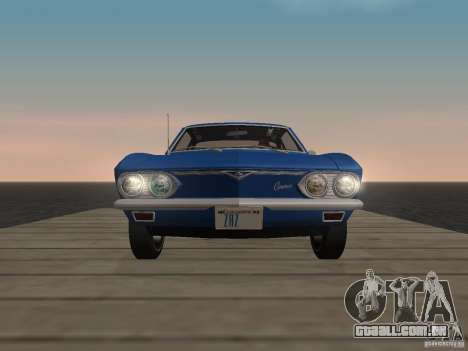 Chevrolet Corvair Monza 1969 para GTA San Andreas vista traseira