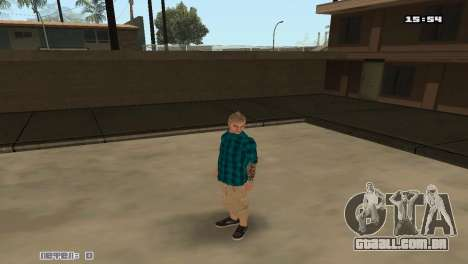 Construir peles Rifa para GTA San Andreas terceira tela
