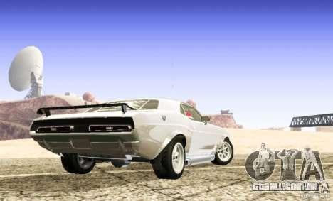 Dodge Charger 1969 SpeedHunters para GTA San Andreas esquerda vista
