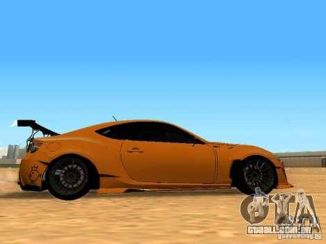 Toyota FT86 Rocket Bunny V2 para GTA San Andreas vista traseira
