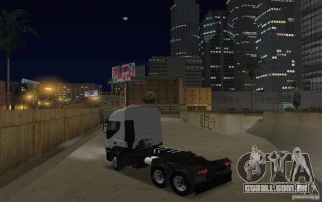 Iveco Stralis Double Trailers para GTA San Andreas traseira esquerda vista