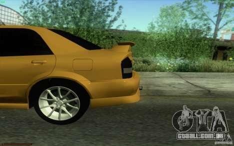 Mazda Speed Familia 2001 V1.0 para GTA San Andreas vista traseira
