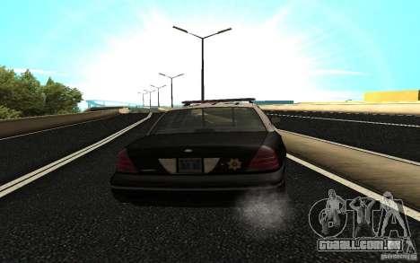 Ford Crown Victoria Police para GTA San Andreas traseira esquerda vista