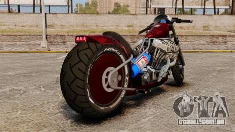Dragbike Street Racer para GTA 4 traseira esquerda vista