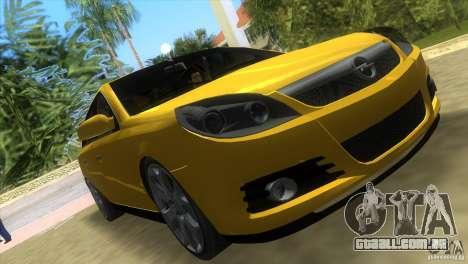Opel Vectra para GTA Vice City vista traseira esquerda