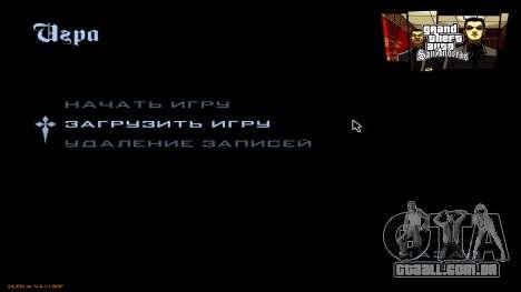 Novo menu de CatVitalio para GTA San Andreas terceira tela