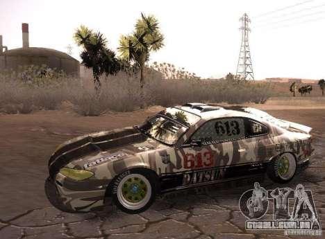 Nissan Silvia S15 Volklinger para GTA San Andreas traseira esquerda vista