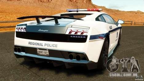 Lamborghini Gallardo LP570-4 Superleggera 2011 para GTA 4 traseira esquerda vista