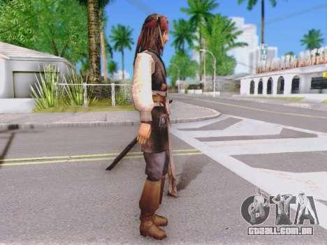 Jack Sparrow para GTA San Andreas segunda tela