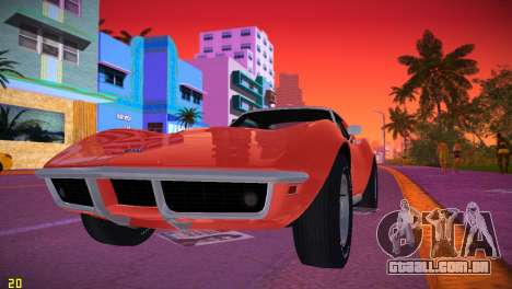 Chevrolet Corvette (C3) Stingray T-Top 1969 para GTA Vice City deixou vista