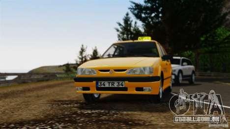 Táxi Renault 19 para GTA 4 vista de volta