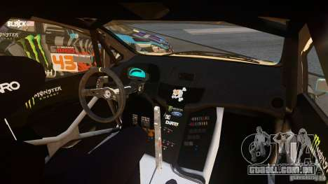 Ford Fiesta Gymkhana - Ken Block (Hoonigan) 2013 para GTA 4 esquerda vista
