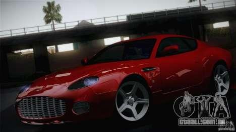 Aston Martin DB7 Zagato 2003 para GTA San Andreas vista traseira