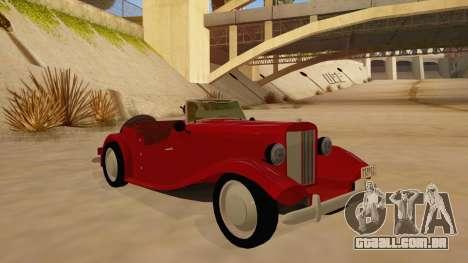 MG Augest para GTA San Andreas vista traseira