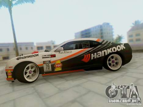 Chevrolet Camaro Hankook Tire para GTA San Andreas vista direita