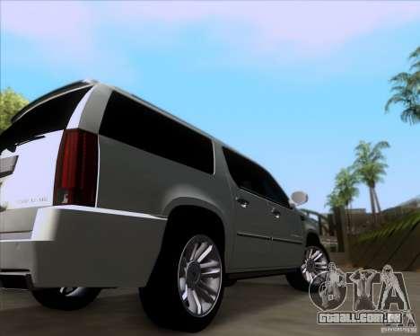 Cadillac Escalade ESV Platinum 2013 para GTA San Andreas vista traseira