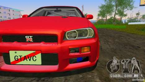 Nissan Skyline GTR R34 para GTA Vice City deixou vista