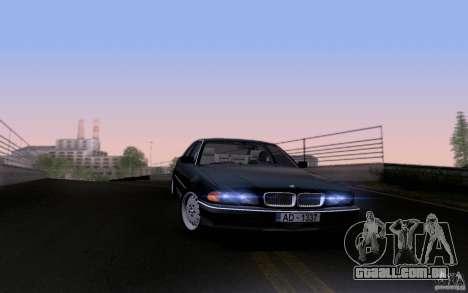 BMW 730i E38 para GTA San Andreas vista inferior