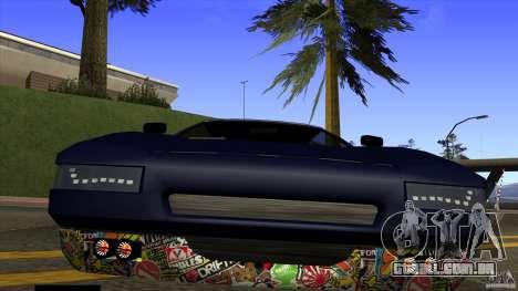 Infernus v3 by ZveR para GTA San Andreas vista direita