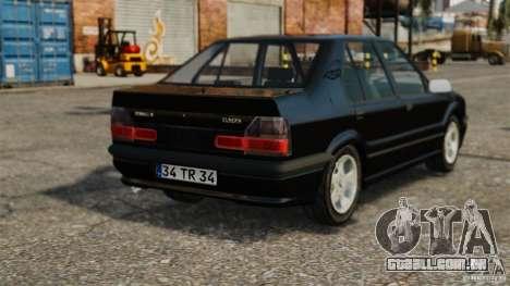 Renault 19 RL para GTA 4 traseira esquerda vista